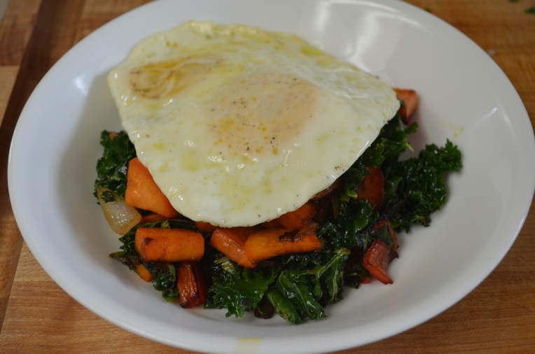 Sweet Potato & Kale Hash with Fried Egg